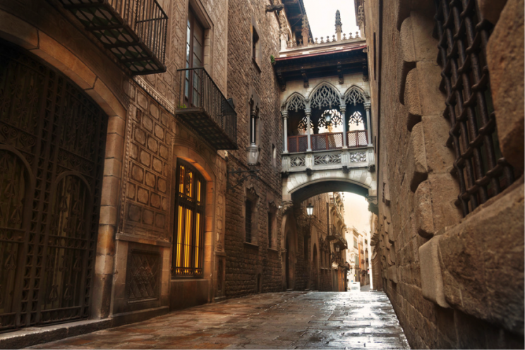 Barcelona Old Town by bike