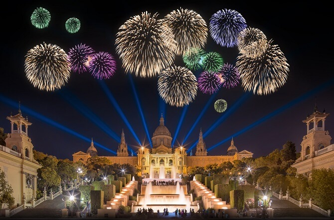 New Years Eve - Plaza España, Barcelona