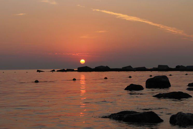 Sunrise Barceloneta Beach