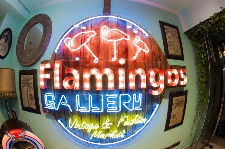 Flamingos Vintage Gallery