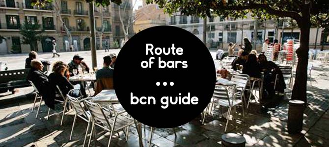 route of bars in barcelona
