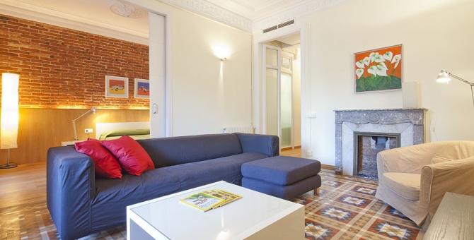 apartment barcelona eixample salón
