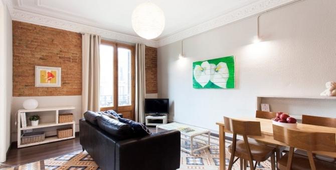 apartment barcelona eixample comedor