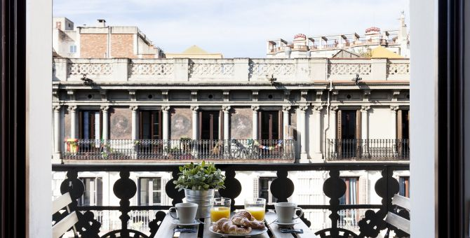 apartment barcelona eixample terraza
